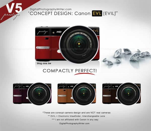 佳能EVIL微單眼概念設計 2010 canon evil concept design